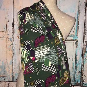 LULAROE~MIXED Colorful Print~MAXI A-line Skirt~ XL